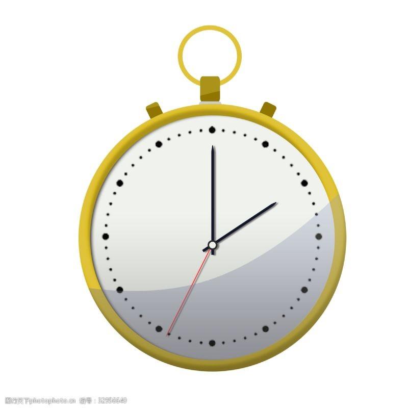 电子钟老怀表钟表机械插画