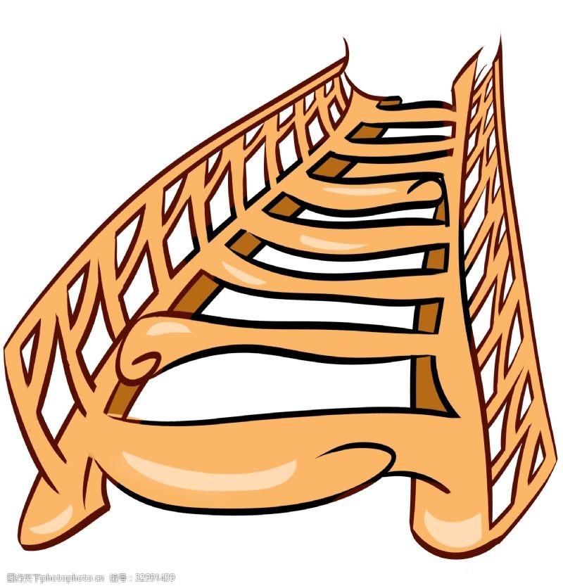 卡通梯子卡通橙色梯子插图