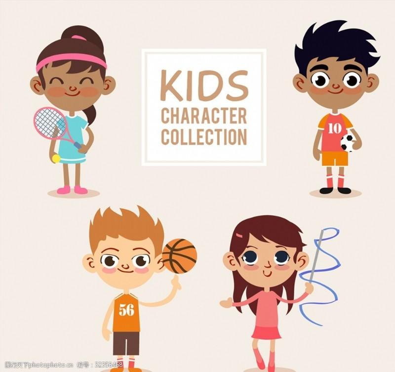 艺术体操4款卡通运动儿童