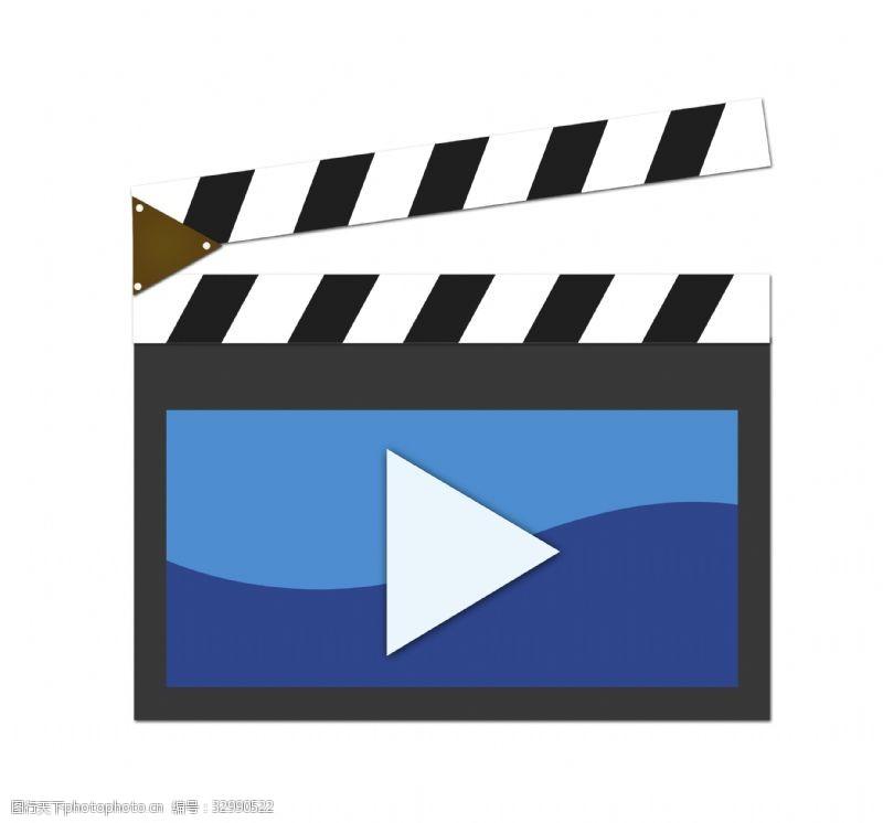 视频播放器黑色的播放器插画