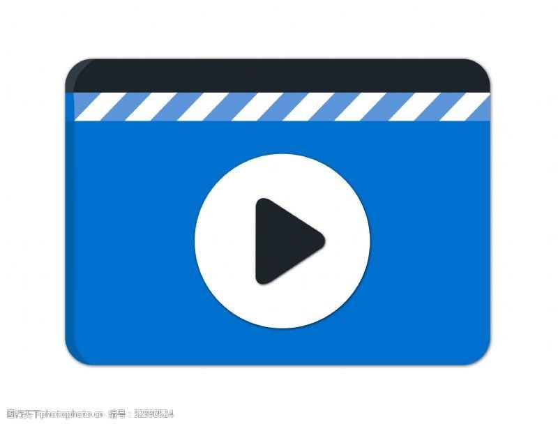 视频播放器漂亮的播放器插画