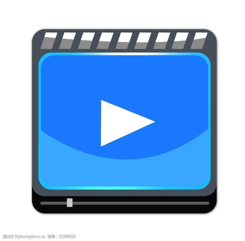 视频播放器装饰插画