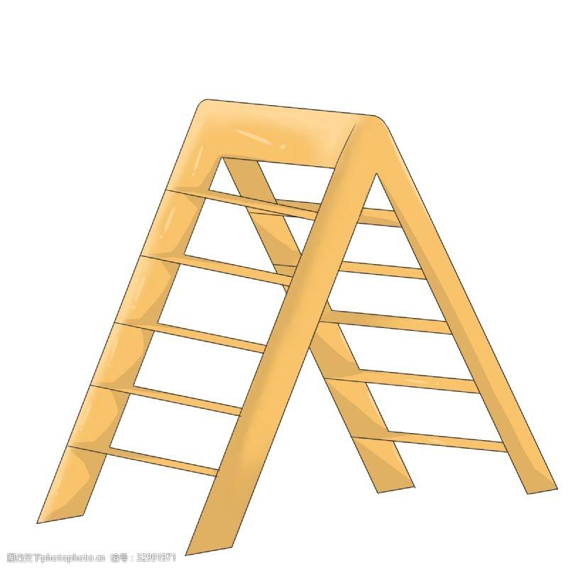 折叠梯人字梯插画
