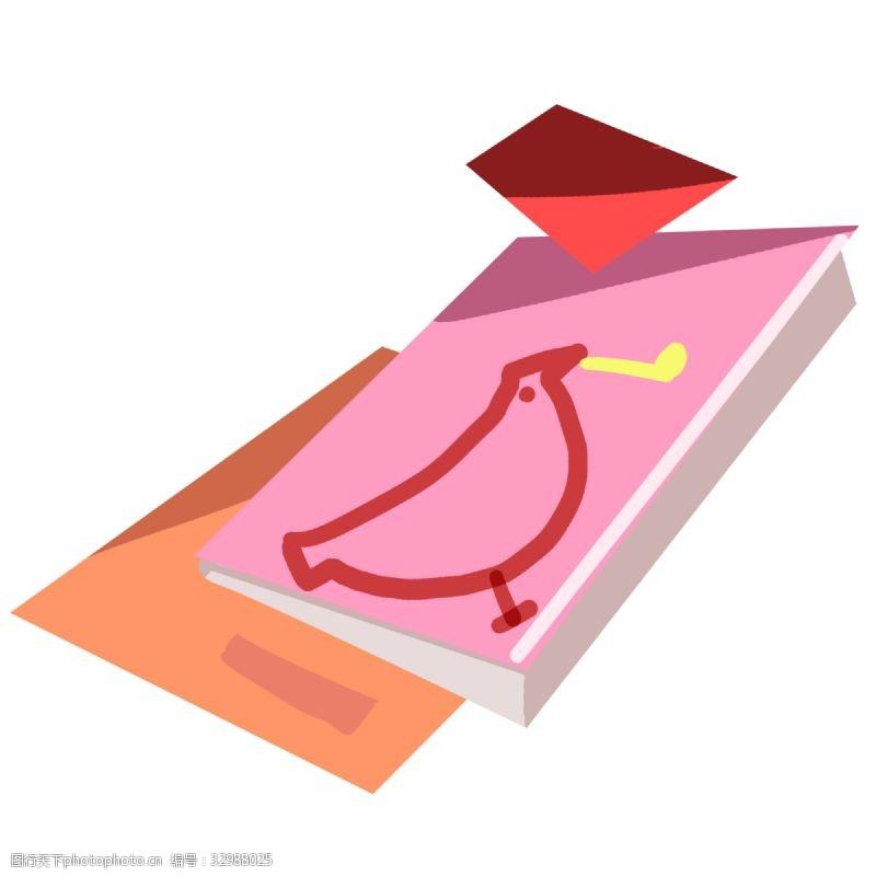 粉色盒子小鸟插图