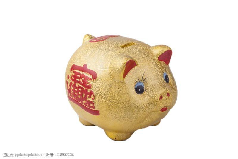 小金人小金猪陶瓷储钱罐