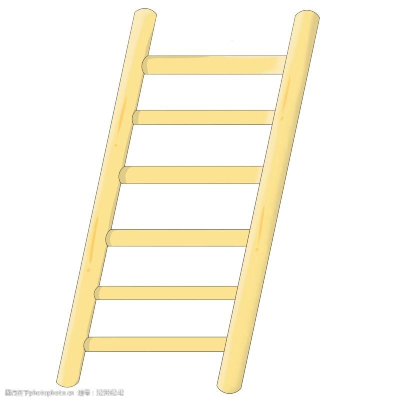 卡通梯子卡通黄色梯子插画