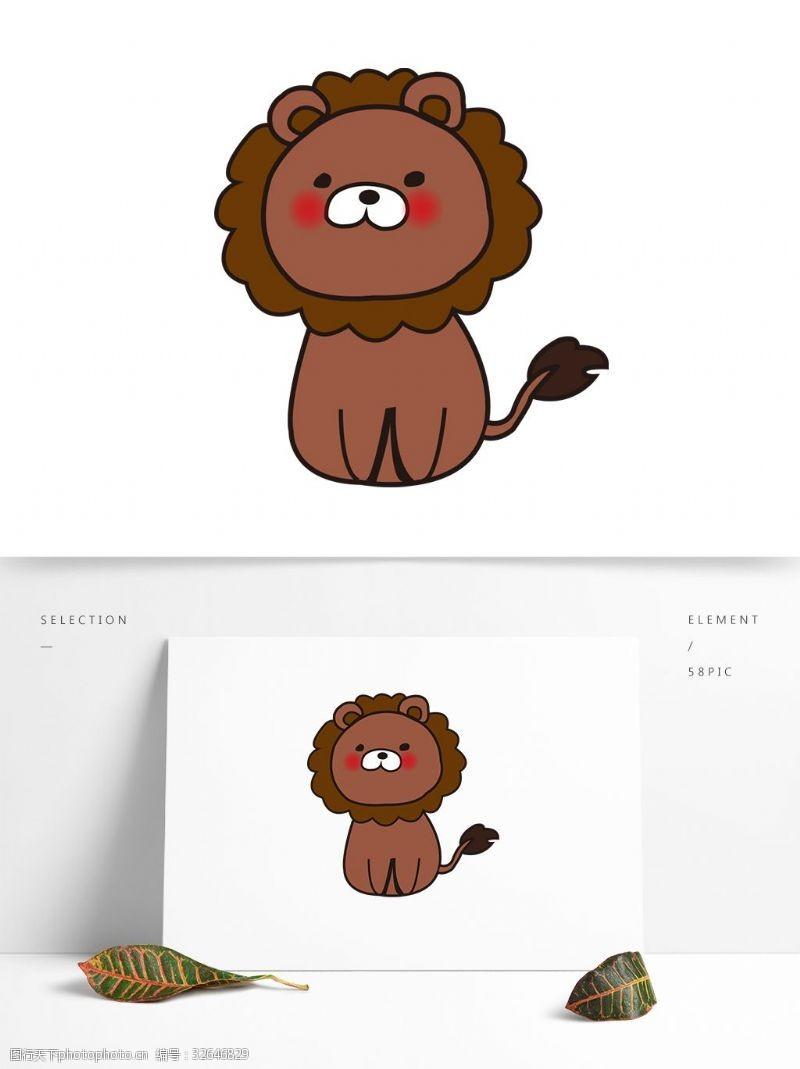 卡通矢量图案狮子