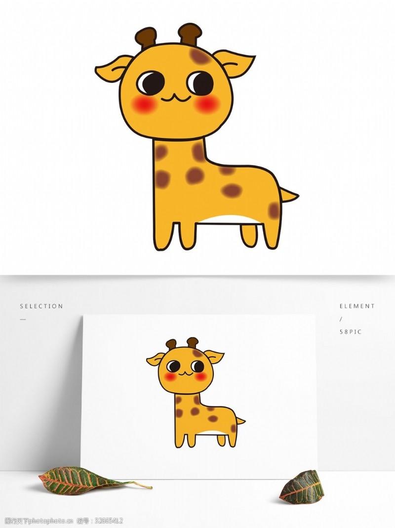 卡通矢量图案小鹿