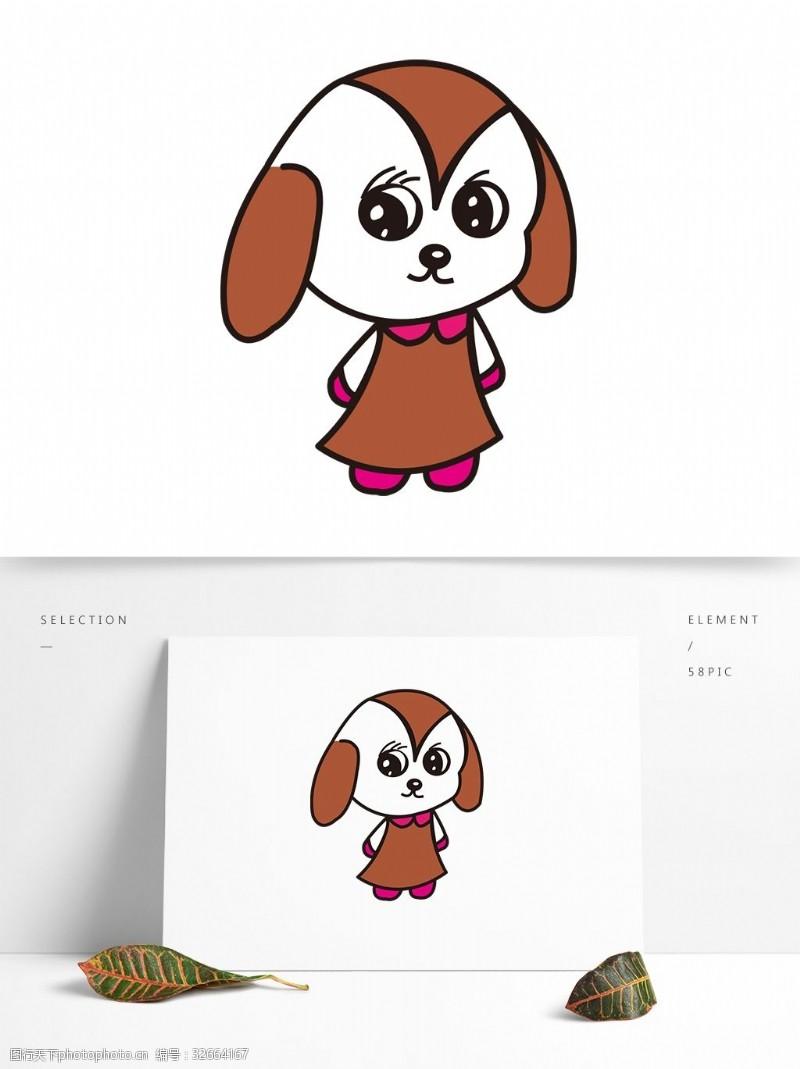 卡通矢量图案动物狗