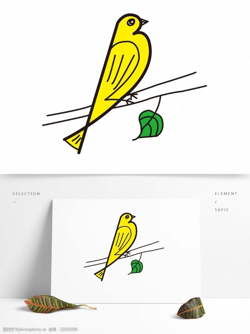 卡通矢量图案小鸟