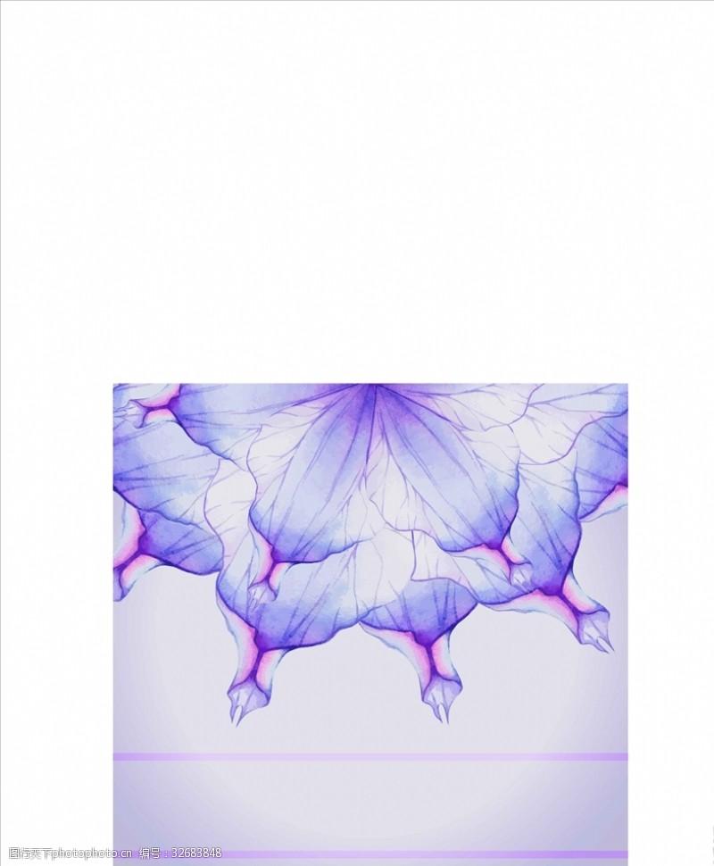 炫光花紫色梦幻炫彩花朵