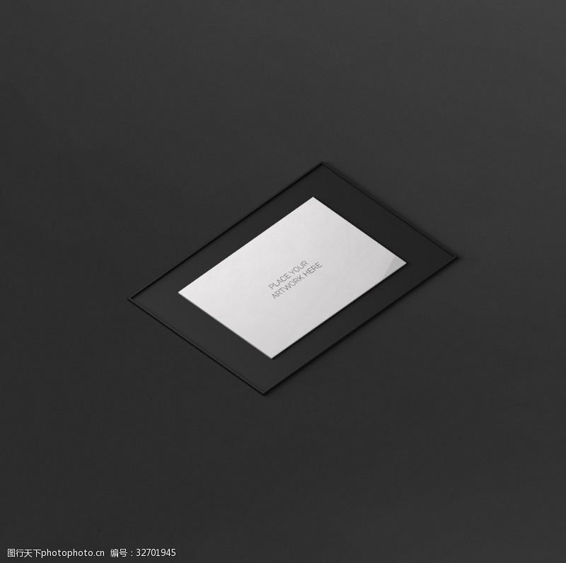 相框展示黑色相框样机