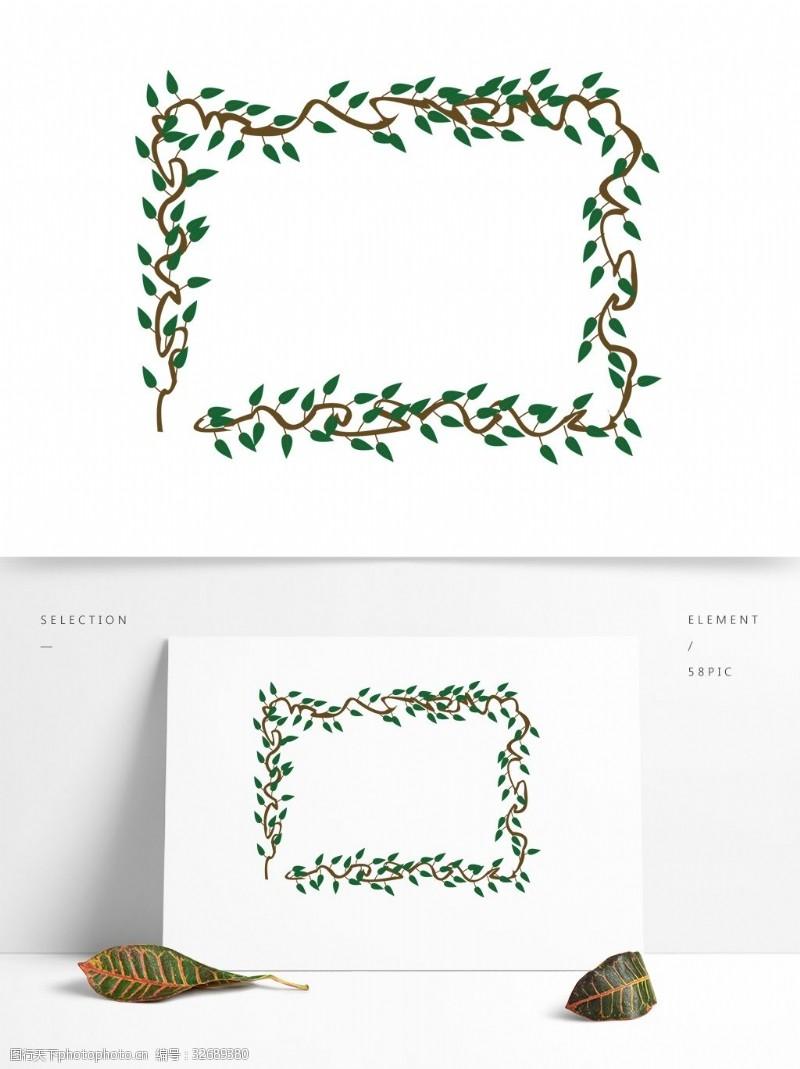 绿叶藤原创藤蔓绿叶素材