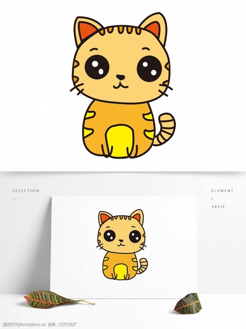 卡通矢量图案动物猫