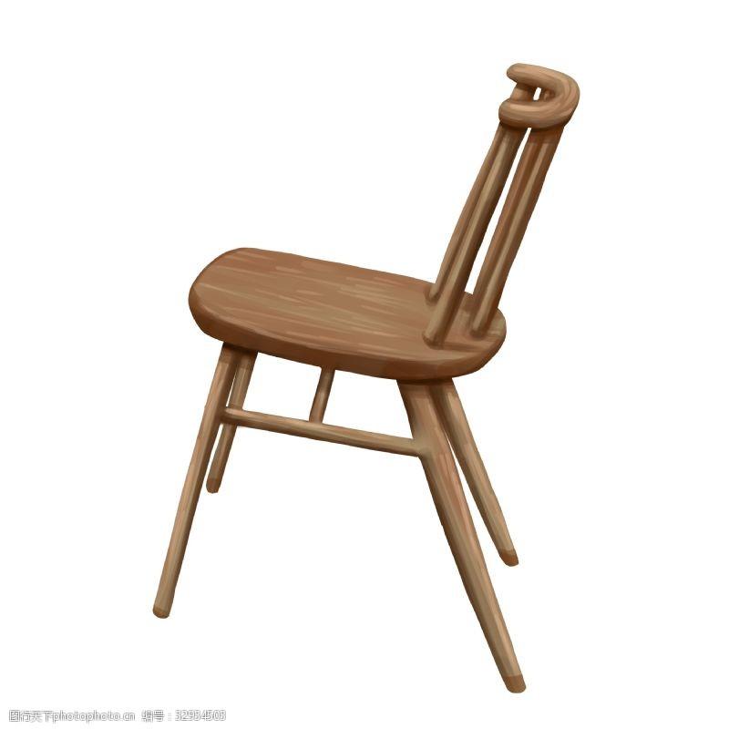 木质椅子卡通家具