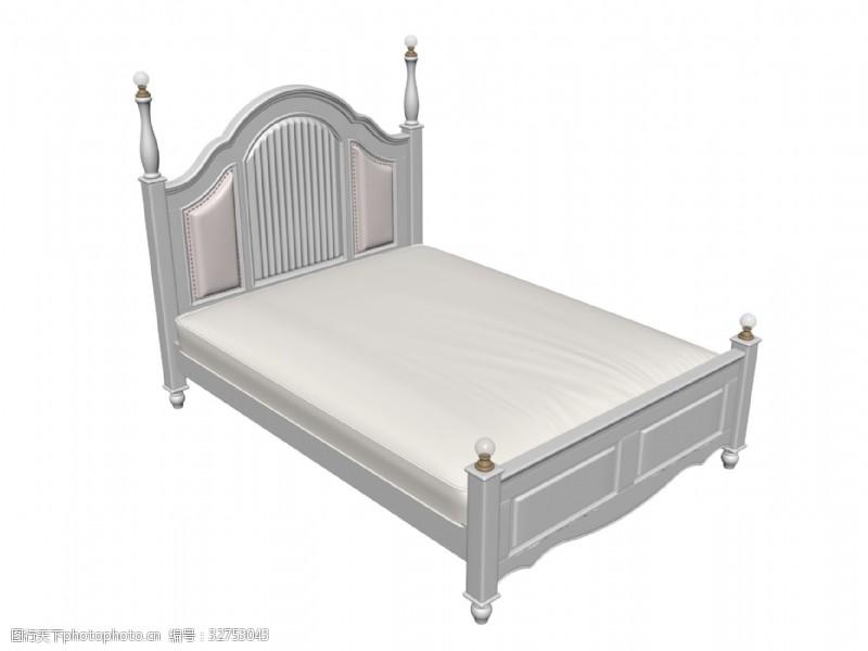 3d模型下载欧式床的3D模型