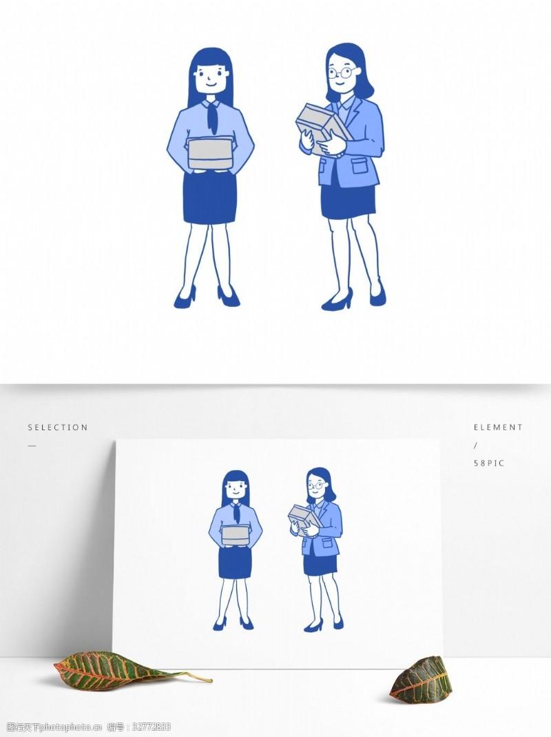 原创女秘书形象手绘简洁风格