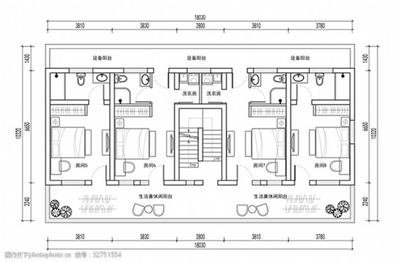 室内设计平面图酒店客房平面方案设计