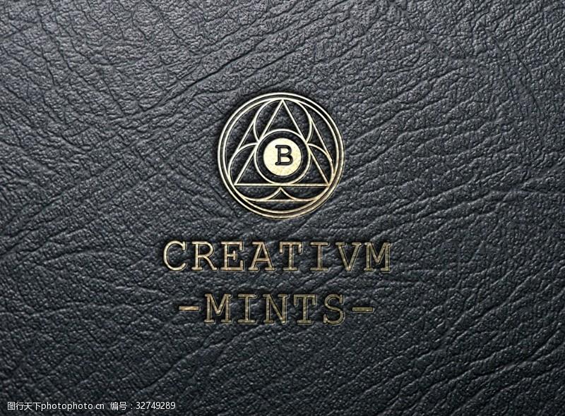 logo设计欣赏皮革logo样机