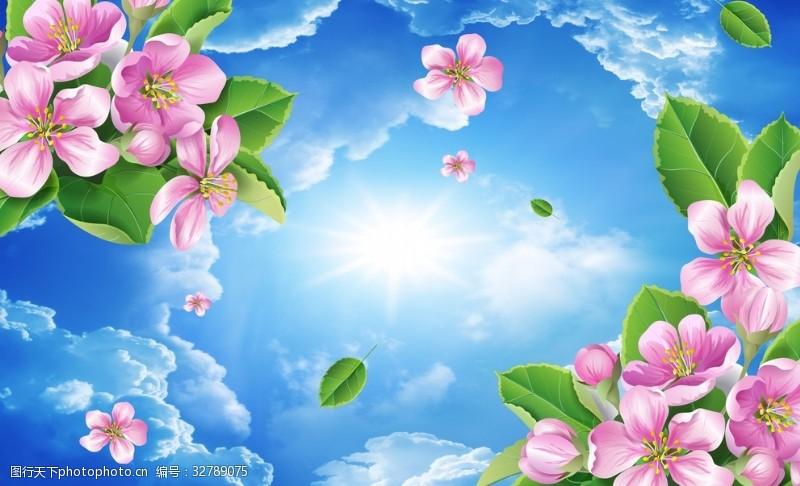 顶面白云花朵吊顶
