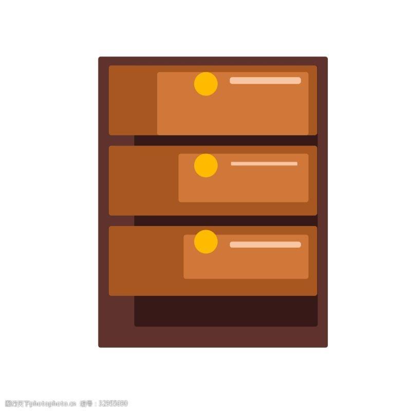 棕色木质床头柜