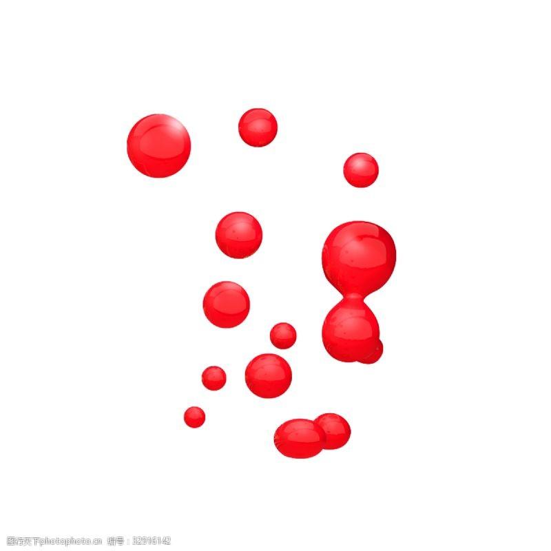 红球红色电商背景装饰