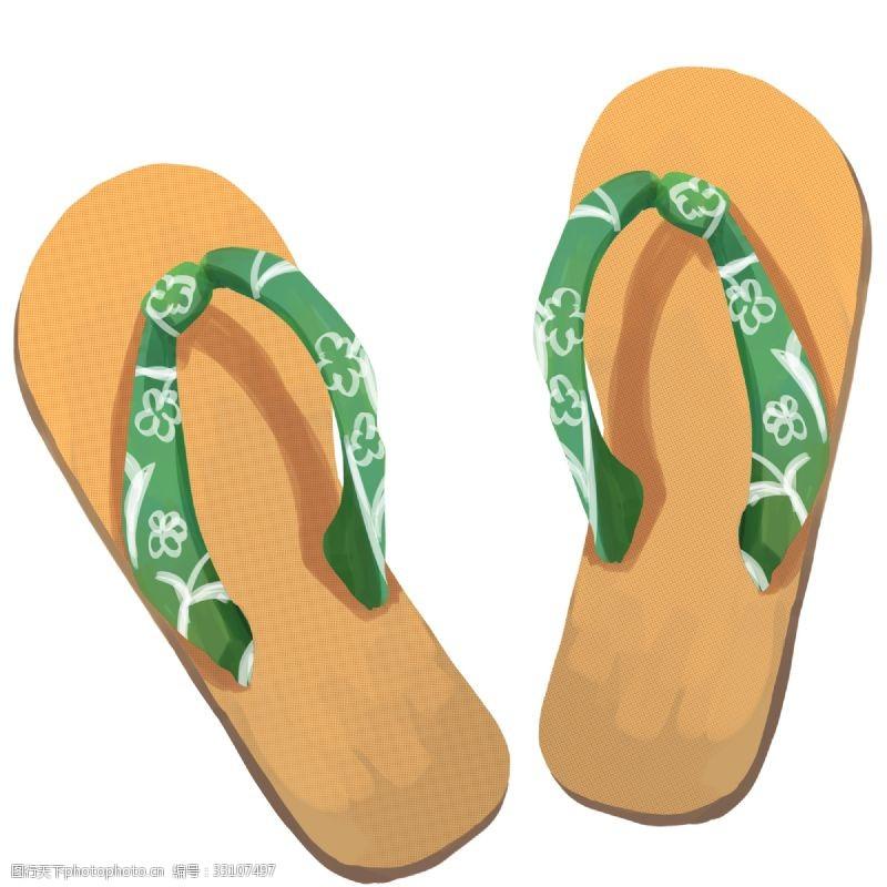 木质凉鞋鞋子