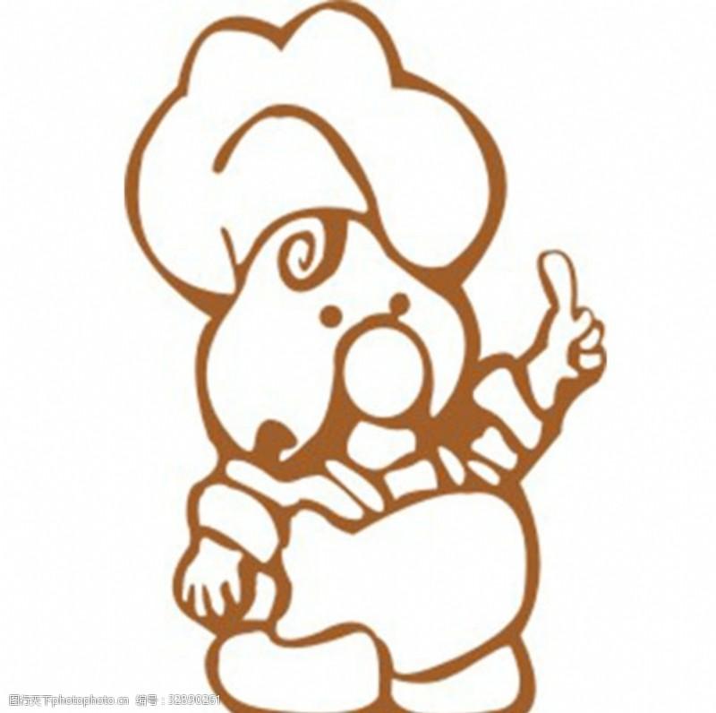 厨师卡通人物小厨logo