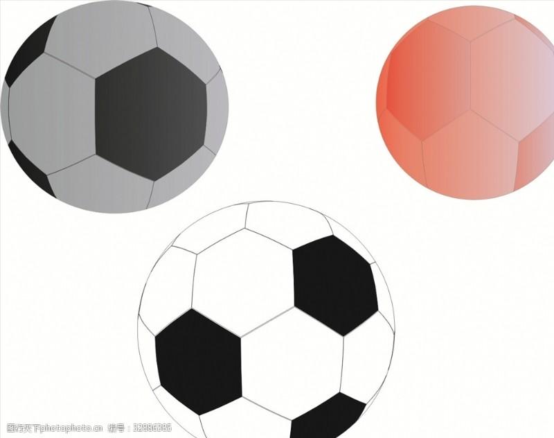 黑白红足球