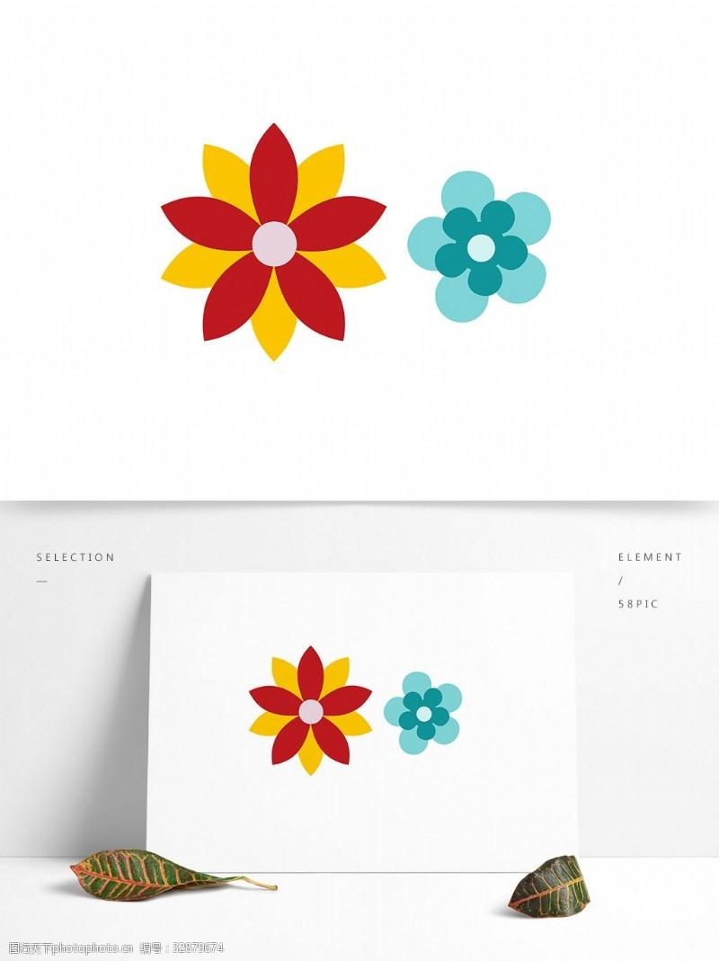 简洁图案花几何图案矢量元素