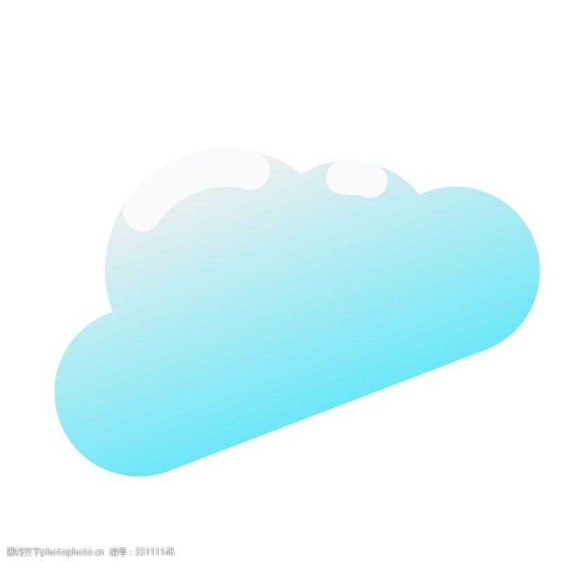 云朵装饰蓝色的卡通云朵