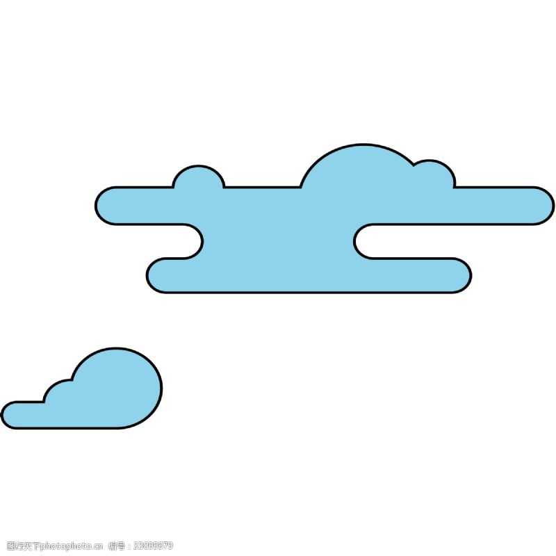 云朵装饰绿色的卡通云朵
