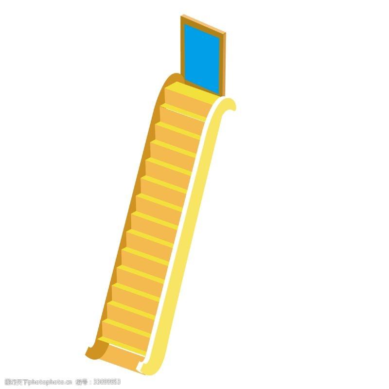 卡通梯子通往天堂的楼梯