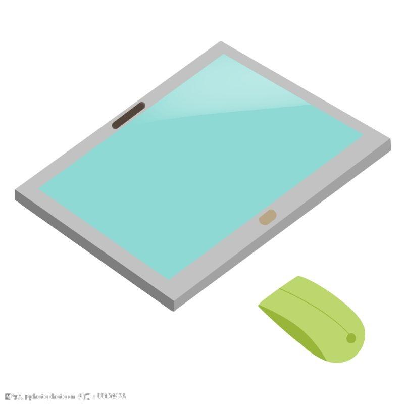 卡通鼠标卡通绿色鼠标插图