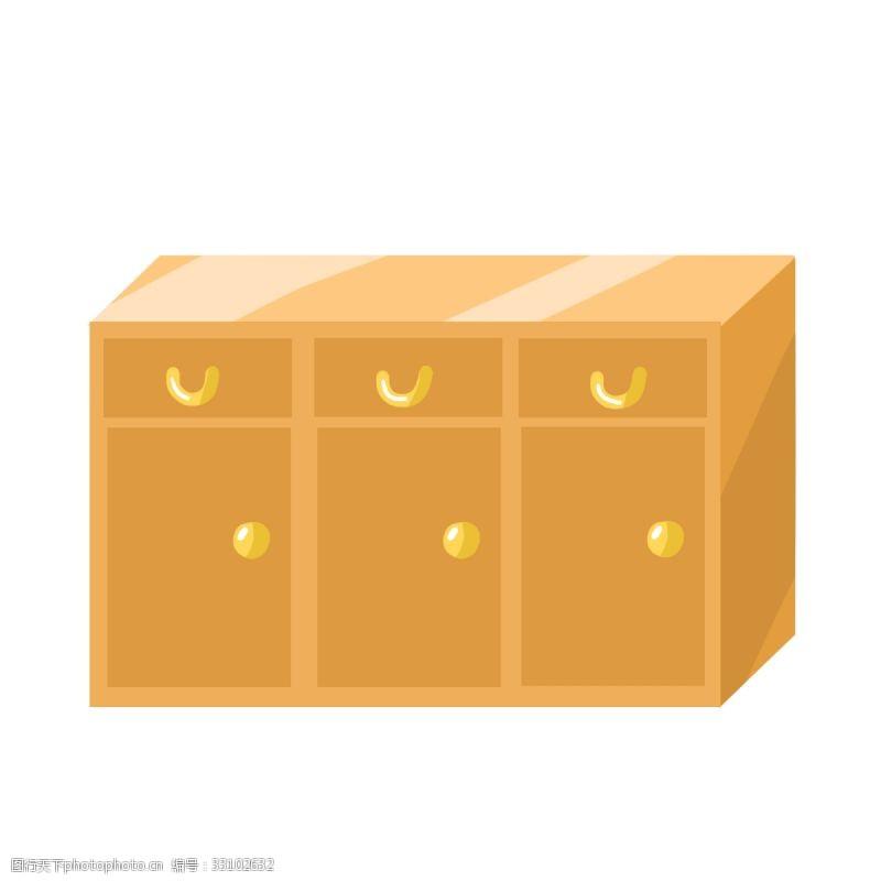 木质黄色柜子