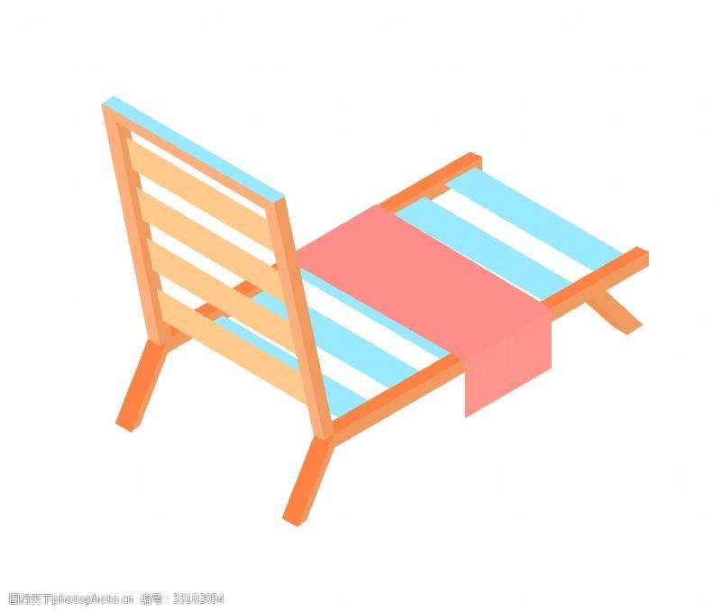 木质躺椅椅子