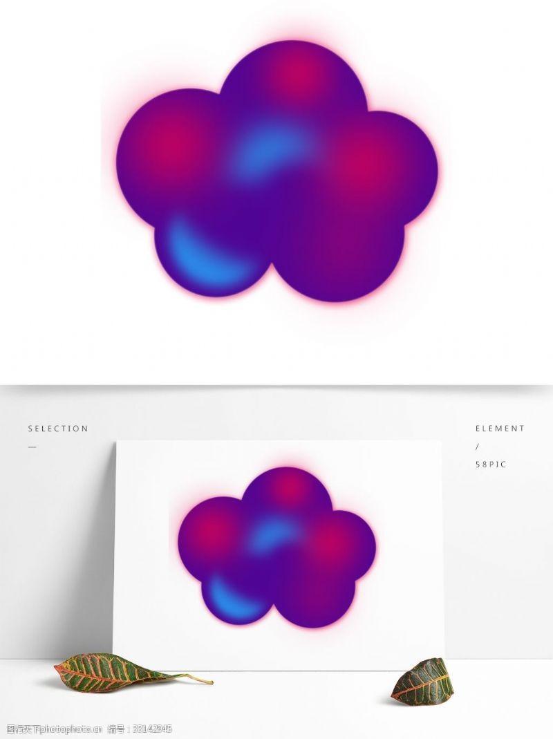 云朵装饰渐变紫色的云朵素材