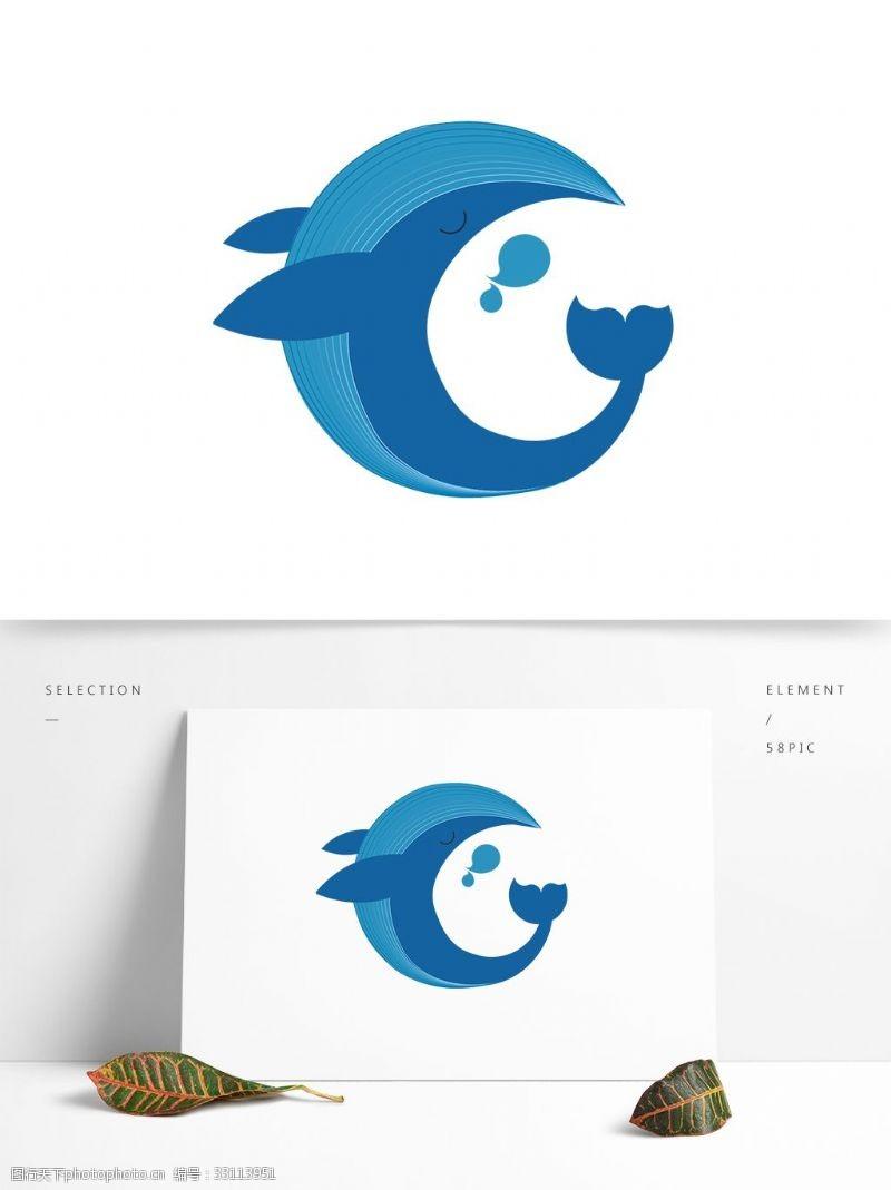 卡通矢量图案鲸鱼矢量元素卡通