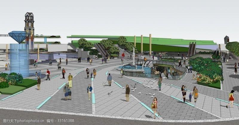 休闲水景休闲水街景观设计