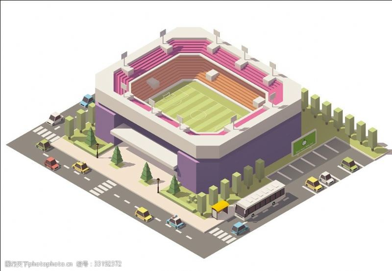 体育比赛足球场