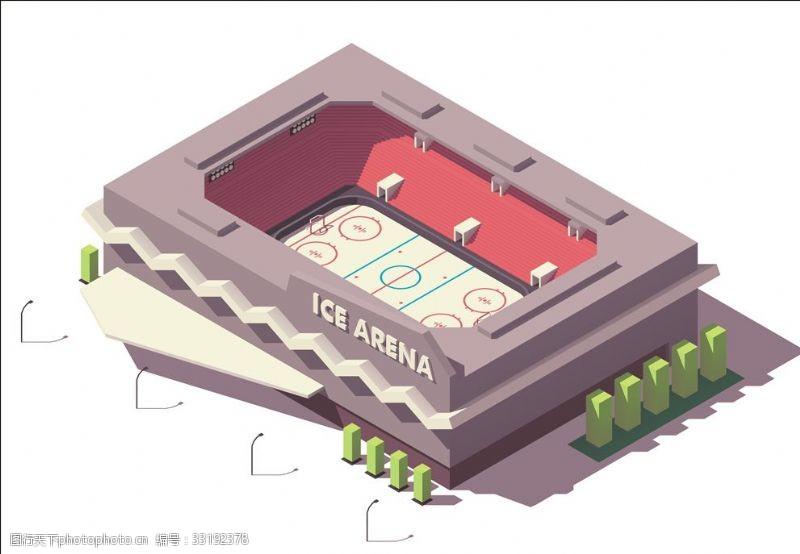 体育比赛冰球场