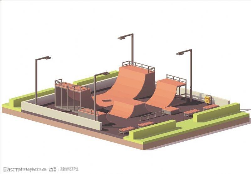体育比赛滑板竞技场