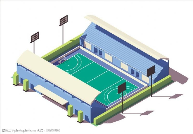 体育比赛曲球运动场