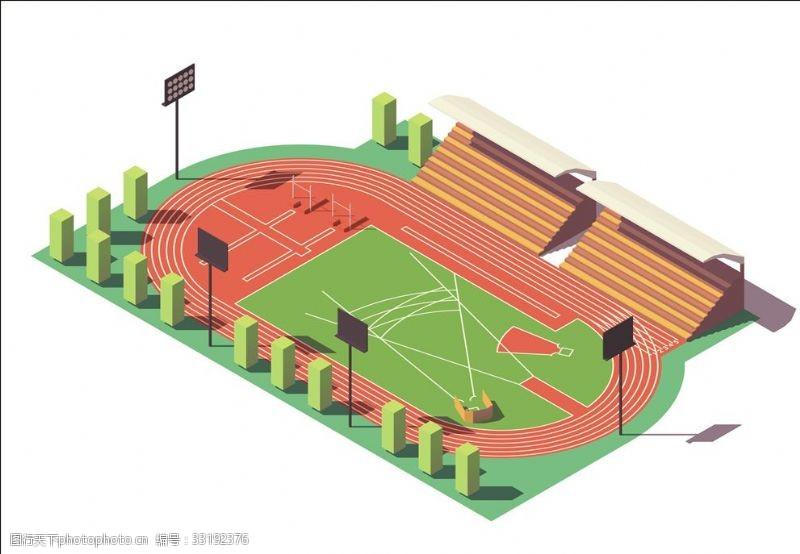 体育比赛田径场