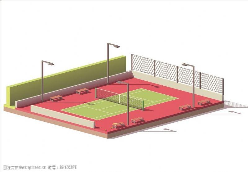 体育比赛网球场
