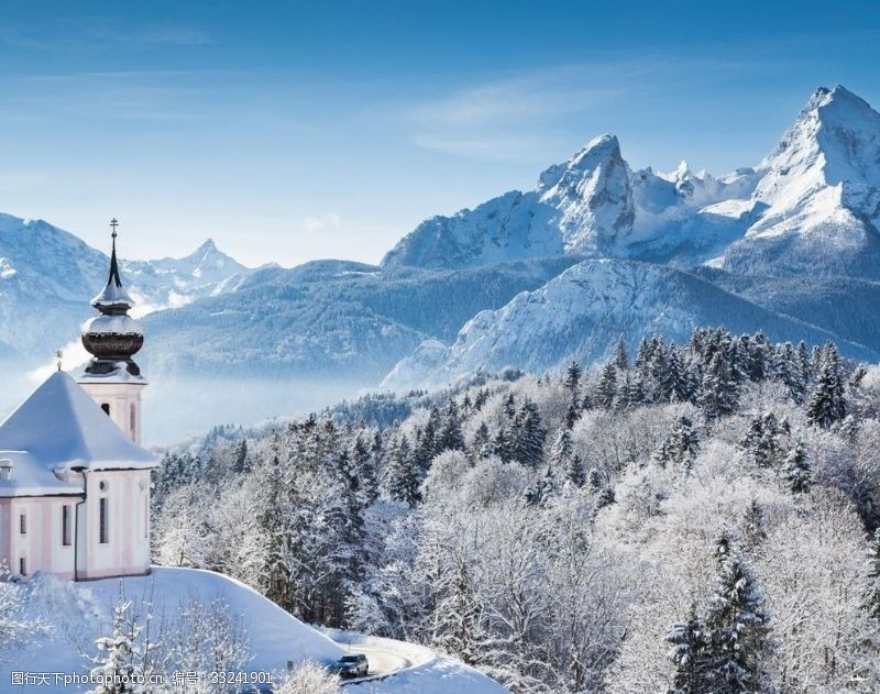 纯美的雪景