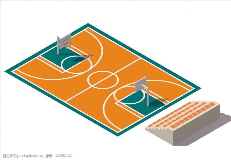 体育比赛篮球场