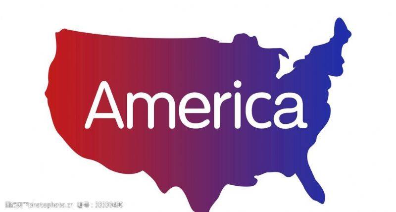 america美国地图轮廓