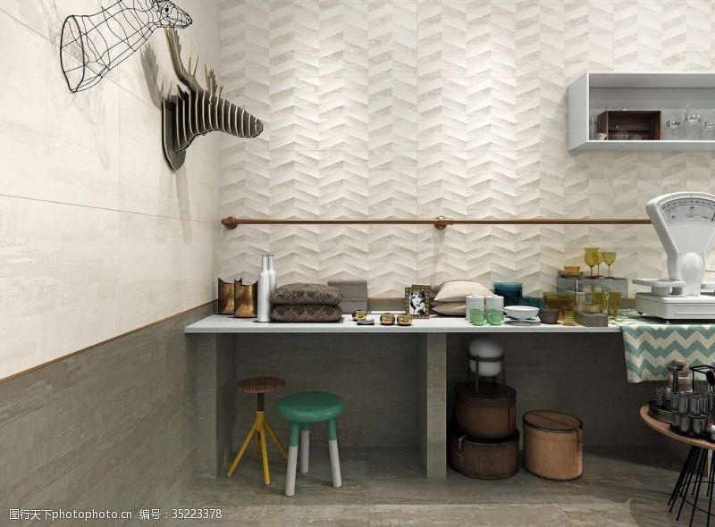 工作空间陶瓷效果图