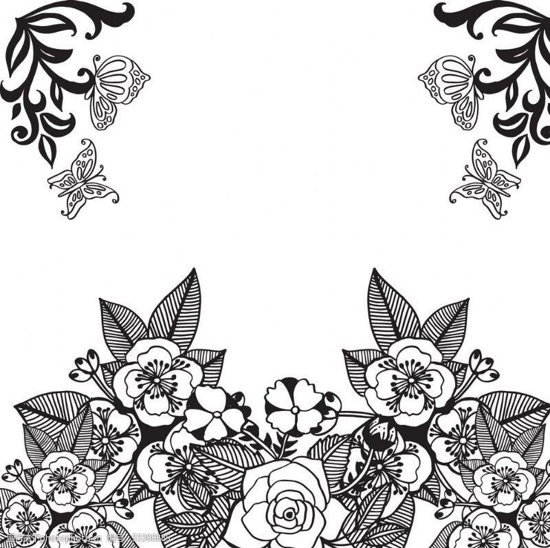 纯美花卉花纹